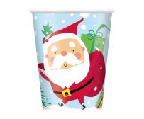Colourful Santa Paper Cups (8)